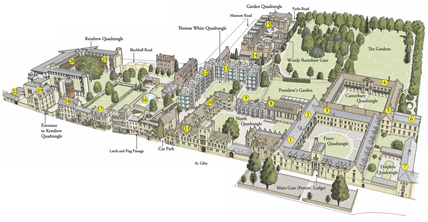 oxford colleges map Google Search Oxford University Pinterest